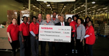 Nissan Celebrates Thanksgiving with Mississippi Donation