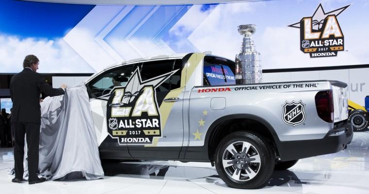 Wayne Gretzky Joins Honda to Unveil NHL All-Star Ridgeline at LA Auto Show