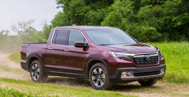 2017 Honda Ridgeline Only Pickup Truck to Achieve Top Safety Pick+ Rating