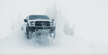 Stunt Driver Ken Block Takes a Snowy Joy Ride in an F-150 Raptor