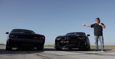John Hennessey Raced the Camaro ZL1 & Challenger Hellcat, And Here's What Happened