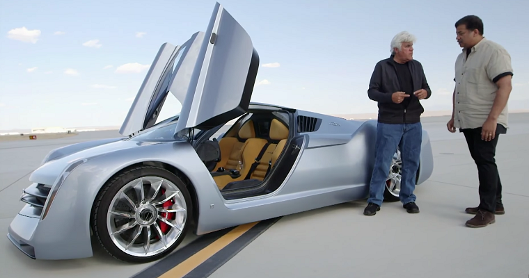 Jay Leno Takes Neil deGrasse Tyson for a Ride in His Jet Car