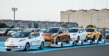 Nissan Leaf Goes To Work in Japanese Plant