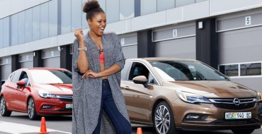 South African Celebs Test Drive Opel Astra at Kyalami Racetrack