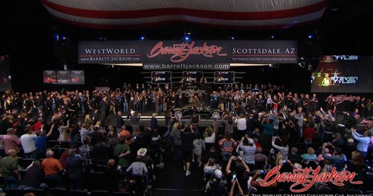 Steven Tyler and Dale Earnhardt Jr. Help Sell Cars for Charity at Barrett-Jackson Scottsdale Auction