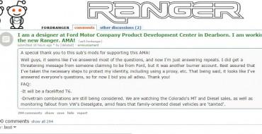 Unofficial Reddit AMA with Ford Designer Reveals Interesting Information on New Ranger