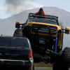 Former Seattle Seahawks Player Marshawn Lynch Runs Over Jeep with a Monster Truck