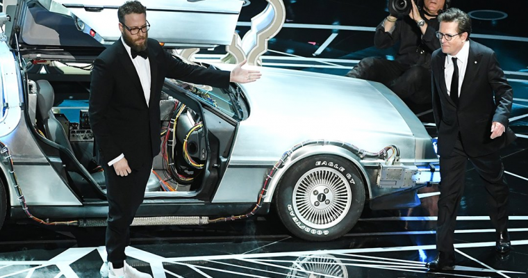 The Time-Traveling DeLorean from 'Back to the Future' Wins Best Car Cameo at the Oscars