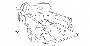 Ford Patent Suggests Power Sliding Platform for F-150 Hybrid Truckbed