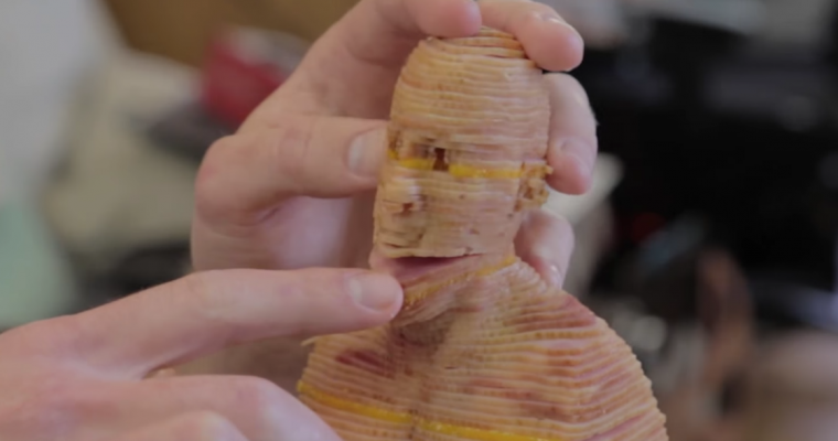 Man Uses Laser Cutter to Create Vin Diesel-Shaped Ham Sandwich