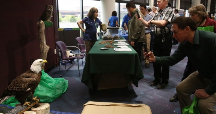 An Assortment of Animals Drop by the Chrysler World Headquarters for Earth Day