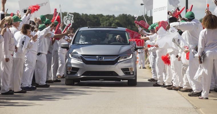2018 Honda Odyssey Begins Production at Honda Manufacturing of Alabama Plant