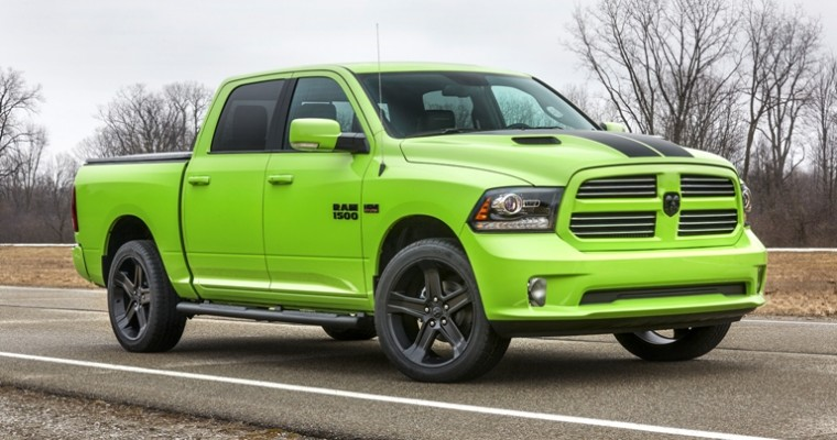 Ram Adds Sublime Lime Green and Blue Streak Color Schemes to Its Exterior Collection
