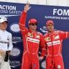 Räikkönen Ends 9-Year Pole Drought to Head All-Ferrari Front Row
