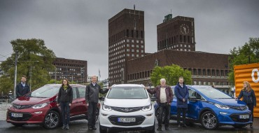 Three Lucky Customers Receive Opel Ampera-e Vehicles on Norwegian Day