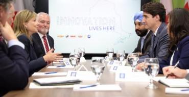 Mary Barra Meets Canada's Justin Trudeau