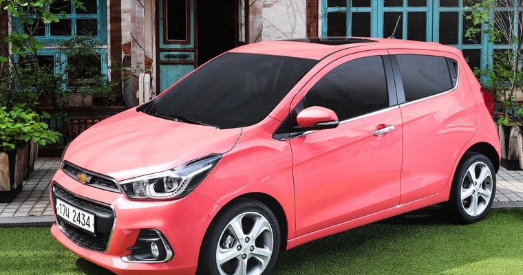 Holy Crap, Check Out the Coral Pink Paint on Korea's 2018 Chevy Spark