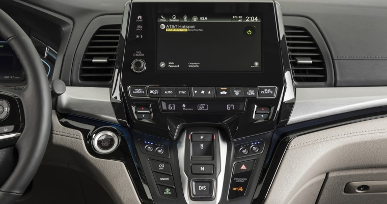 2018 Honda Odyssey Becomes First Minivan to Offer 4G LTE In-Vehicle Wi-Fi