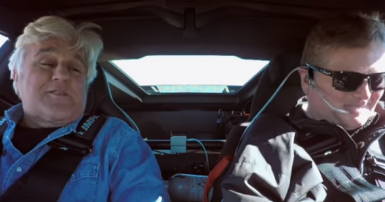 Sam Schmidt Takes Jay Leno for a Whirl in His C7 Corvette Z06