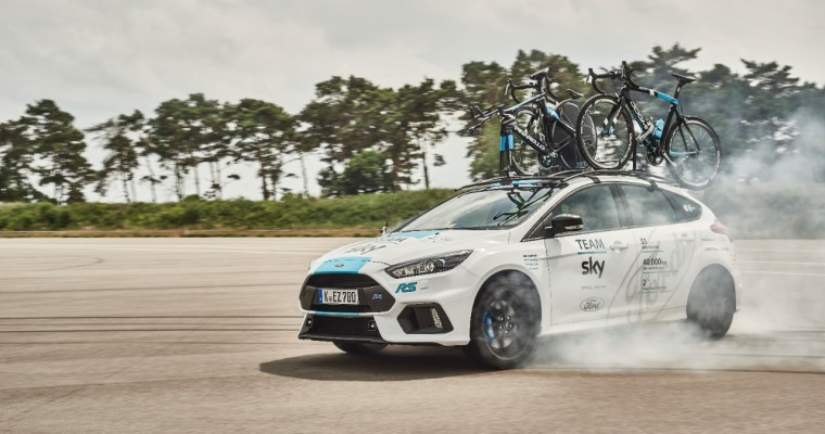 Ford Re-Ups Partnership with Team Sky, Adds Custom Focus RS Option Pack to 2017 Tour de France Fleet