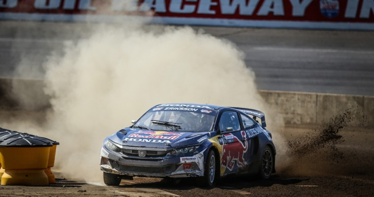 Honda Driver Oliver Eriksson Scores Career-Best Fourth-Place Finish at Red Bull GRC Indianapolis