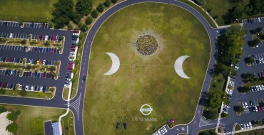 Nissan Creates Eclipse Art