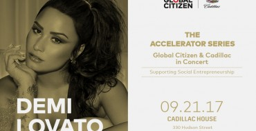 Demi Lovato Set to Perform at Cadillac House for Global Citizen Concert