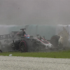Romain Grosjean Crashes After Drain Cover Comes Loose in Malaysia Practice