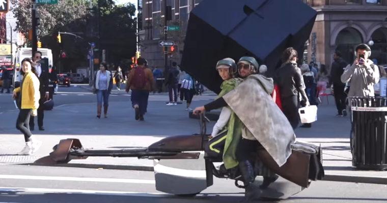 YouTubers Build Real-Life Star Wars Speeders to Drive Around NYC on Halloween