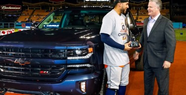 2017 World Series MVP George Springer Receives 2018 Chevrolet Silverado Centennial Edition