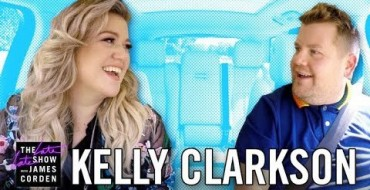"Kelly Clarkson Promotes Her New Album ""Meaning of Life"" on James Corden's Carpool Karaoke"