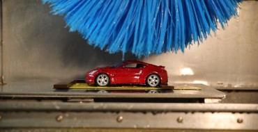 Check Out This Adorable Mini Nissan in a Car Wash