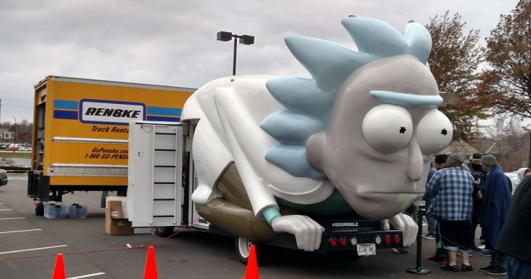 FYI: There's a Rickmobile Traveling Cross-Country and it got a Hilarious Traffic Ticket