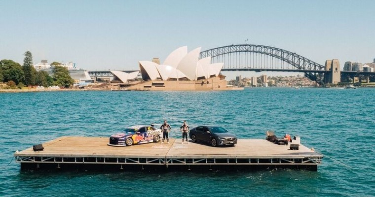Holden Debuts Commodore Supercar on a Float, on a Float, on Sydney Harbor Float