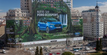 Ford Sets Guinness World Record With One Billboard Inside Madrid, Spain