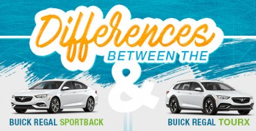 Infographic: Differences Between the Buick Regal Sportback and Buick Regal TourX