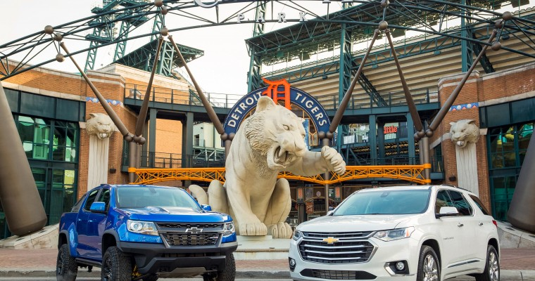 Chevrolet Places Two New Models Atop the Chevrolet Fountain at Comerica Park