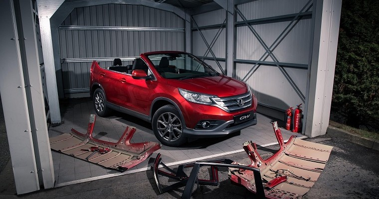 Honda CR-V Takes Its Top Off For April Fool's Day