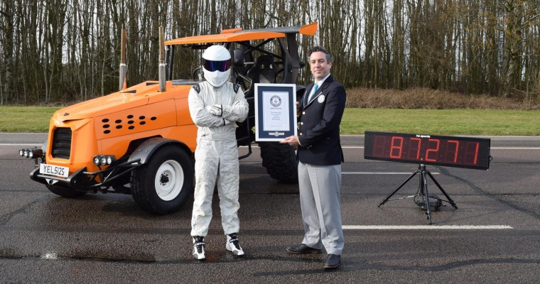 """""""Top Gear"""" Team Creates a Modified Tractor That Breaks a Guinness World Record"""