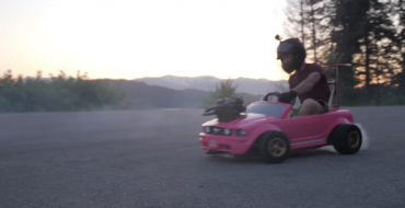 Someone Put a Honda Dirt Bike Engine in a Barbie Car