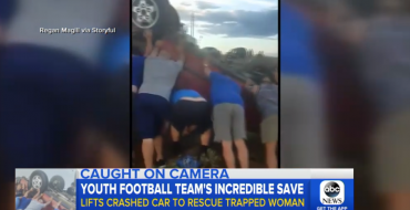 Oregon Couple Saved from Wreck by Football Team