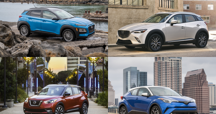 Competitive Compact Crossovers: 2018 Nissan KICKS vs. Toyota CH-R vs. Hyundai Kona vs. Mazda CX-3