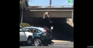 Man Jumps on Vehicle He Rammed into During Road Rage Incident in Sacramento