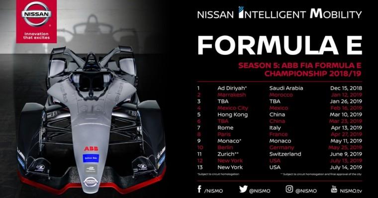 Nissan Formula E Schedule Released