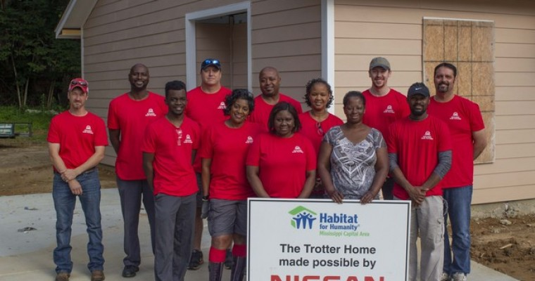 Habitat for Humanity and Nissan Canton Assembly Plant Continue House-building Partnership