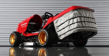 Honda's 150-MPH Mean Mower V2 Mows the Duke's Lawn at Goodwood