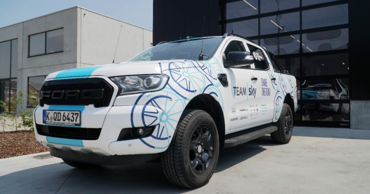 Ford Adds Ranger, Tourneo Custom to Team Sky Fleet for Tour de France