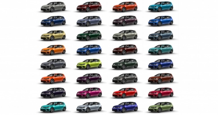 2019 Golf R to Feature 40 Custom Color Options
