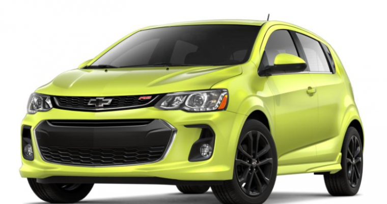 US Names Chevy Sonic One of the 25 Safest Small Cars of 2019