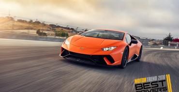 Lamborghini, Porsche, Aston Martin Compete for 2018 Motor Trend Best Driver's Car